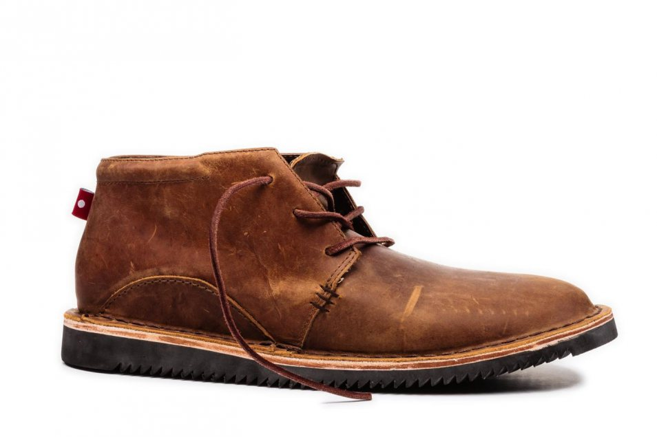 ADIBO Brown/Yellow with Black Wedge Sole