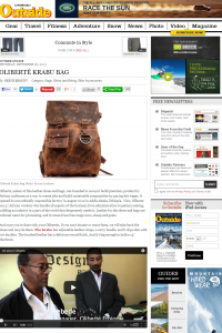 Oliberte Krabu in Outside Magazine